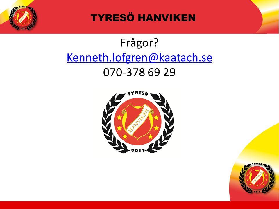 Frågor Kenneth.lofgren@kaatach.se 070-378 69 29 Kenneth.lofgren@kaatach.se