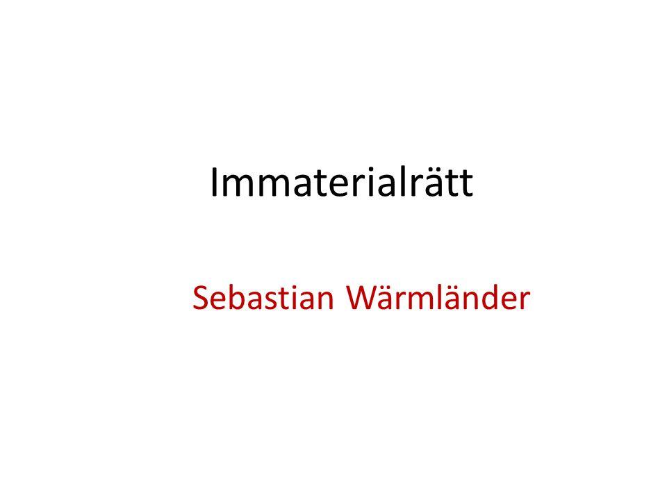 Immaterialrätt Sebastian Wärmländer