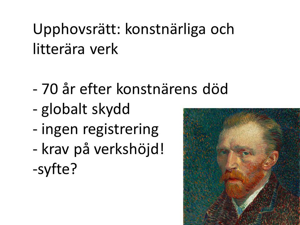 Lag (1960:729) om upphovsrätt till litterära och konstnärliga verk 1 Kap.