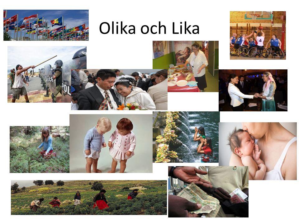 Lika och Olika Vad lever ?