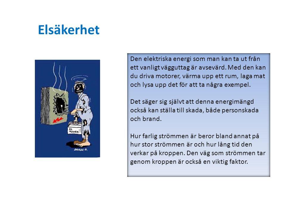 Den elektriska energi som man kan ta ut från ett vanligt vägguttag är avsevärd. Med den kan du driva motorer, värma upp ett rum, laga mat och lysa upp