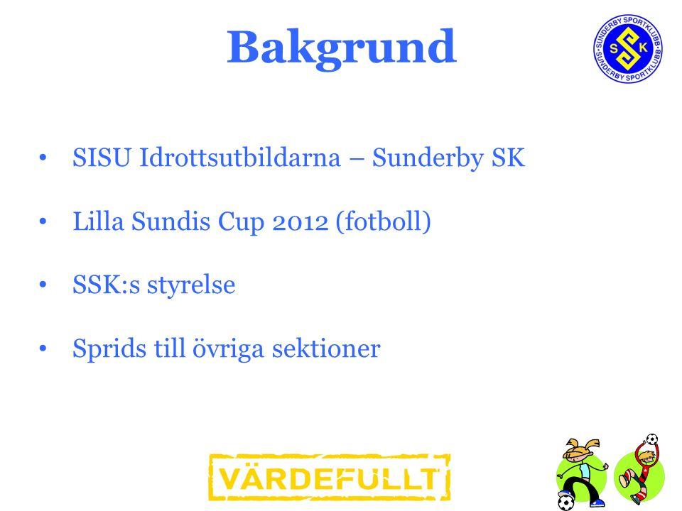 SISU Idrottsutbildarna – Sunderby SK Lilla Sundis Cup 2012 (fotboll) SSK:s styrelse Sprids till övriga sektioner Bakgrund