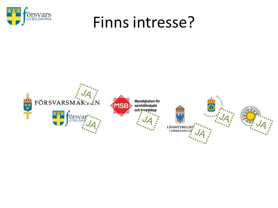 Finns intresse JA