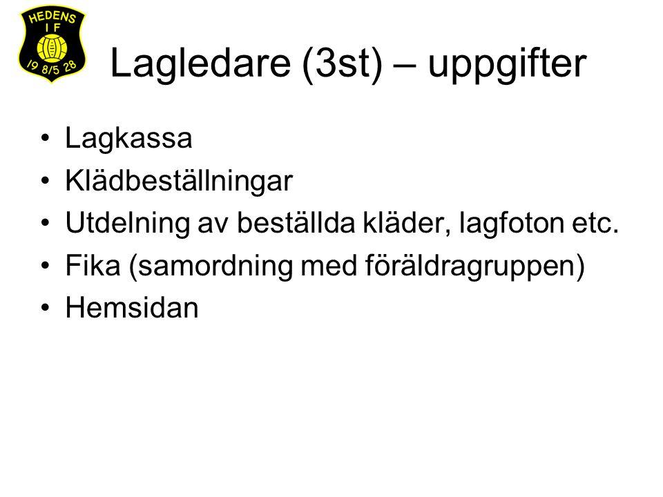 Säsongen 2013 Vårsäsong v.12-27 Uppehåll v.28-29 Höstsäsong v.30-37