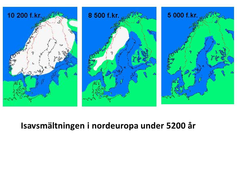 Isavsmältningen i nordeuropa under 5200 år