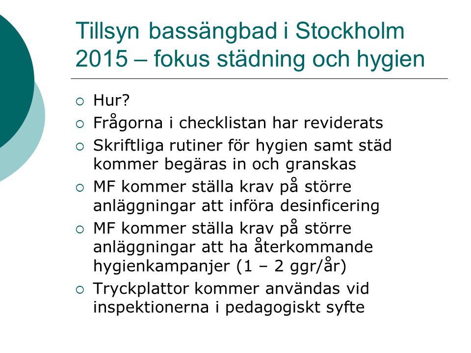 Tillsyn bassängbad i Stockholm 2015 – fokus städning och hygien  Hur.