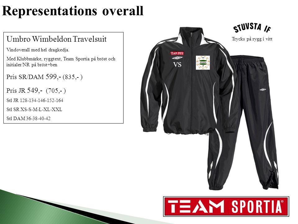 Representations overall Umbro Wimbeldon Travelsuit Vindoverall med hel dragkedja.