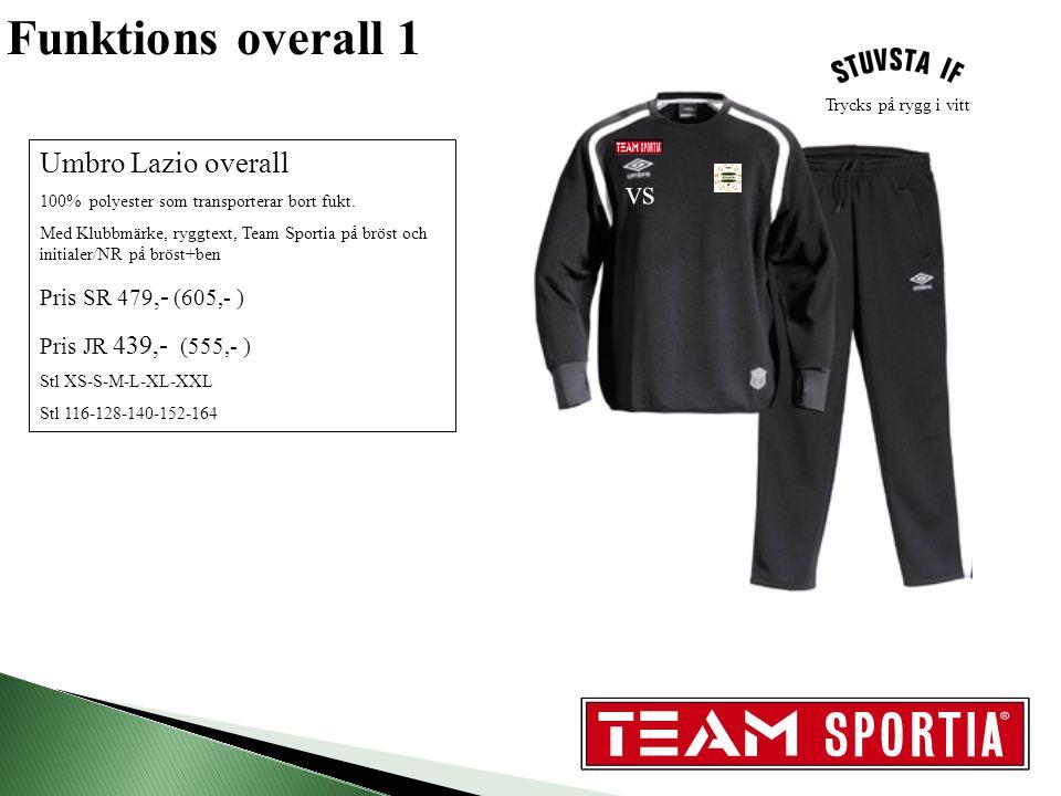 Funktions overall 1 Umbro Lazio overall 100% polyester som transporterar bort fukt.
