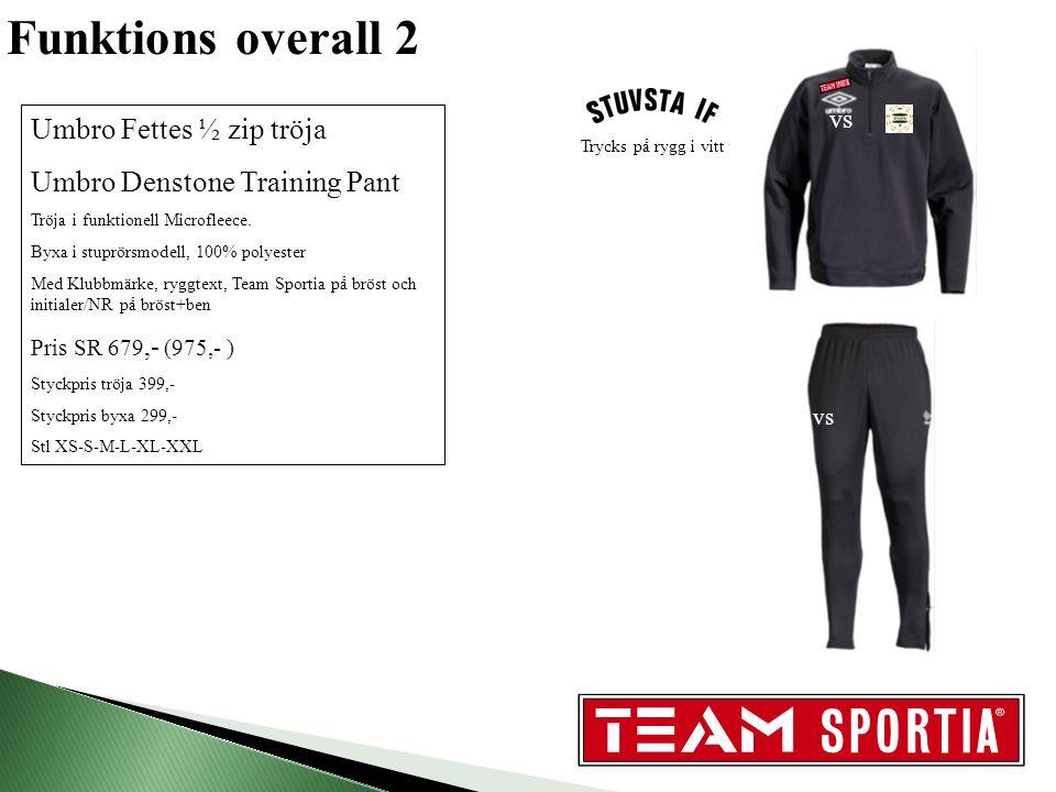 Träningspaket stort Umbro Wembley overall/ Carson shorts/ Preston tröja/ Waterloo väska Overall i bomull.