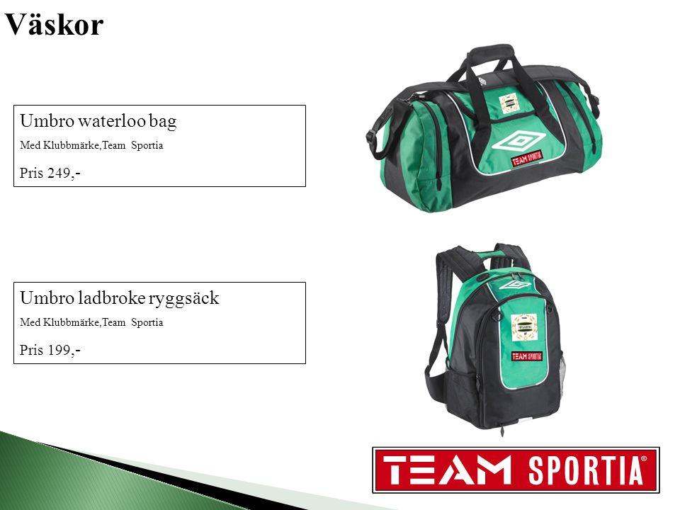 Väskor vs Umbro ladbroke ryggsäck Med Klubbmärke,Team Sportia Pris 199,- Umbro waterloo bag Med Klubbmärke,Team Sportia Pris 249,-