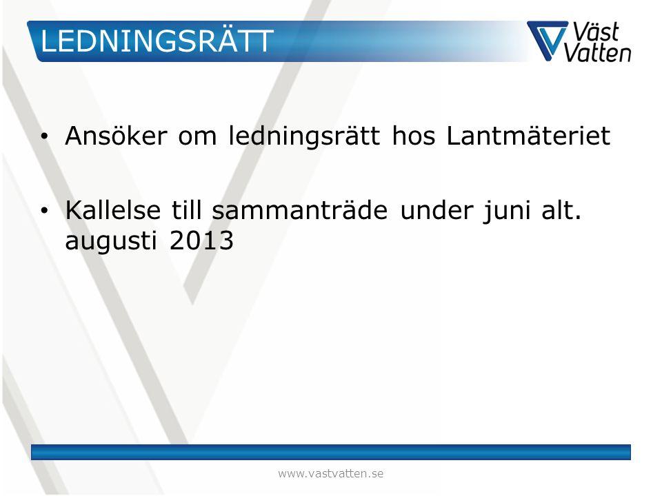 LEDNINGSRÄTT Ansöker om ledningsrätt hos Lantmäteriet Kallelse till sammanträde under juni alt.