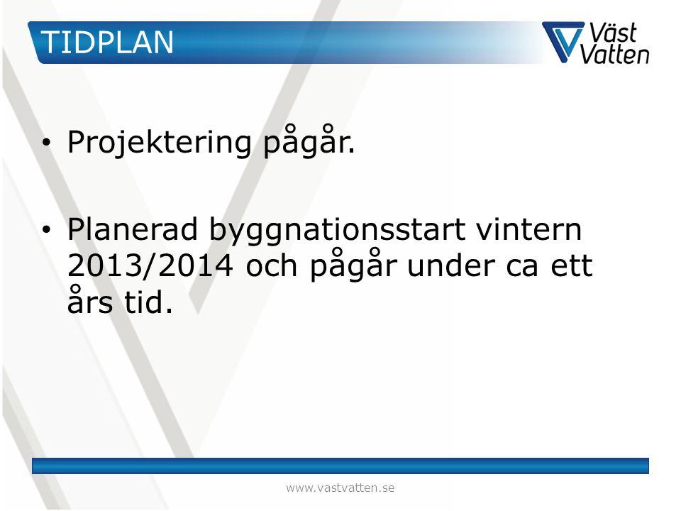 TIDPLAN Projektering pågår.