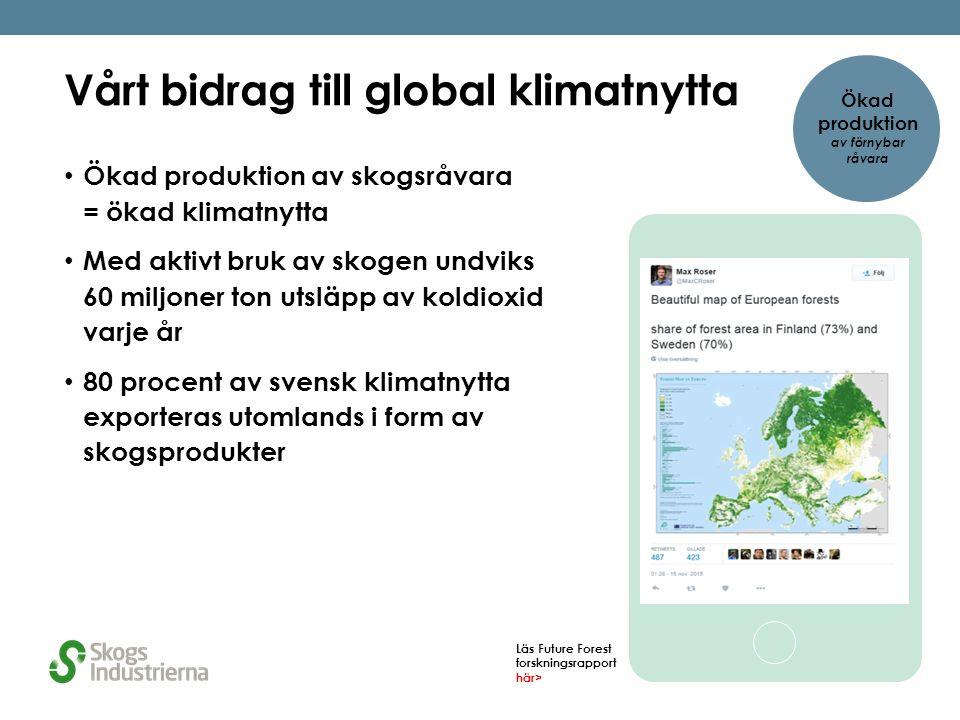 Vi vinner på återvinning Svenska konsumenter är duktiga på att återvinna, tack vare producenterna som tagit ansvar för insamling och återvinning av förpackningar och tidningspapper 90 % av industriavfall används som resurs i andra verksamheter 95 % av tidningar återvinns i Sverige 95 % 90 % Ökad produktion av förnybar råvara