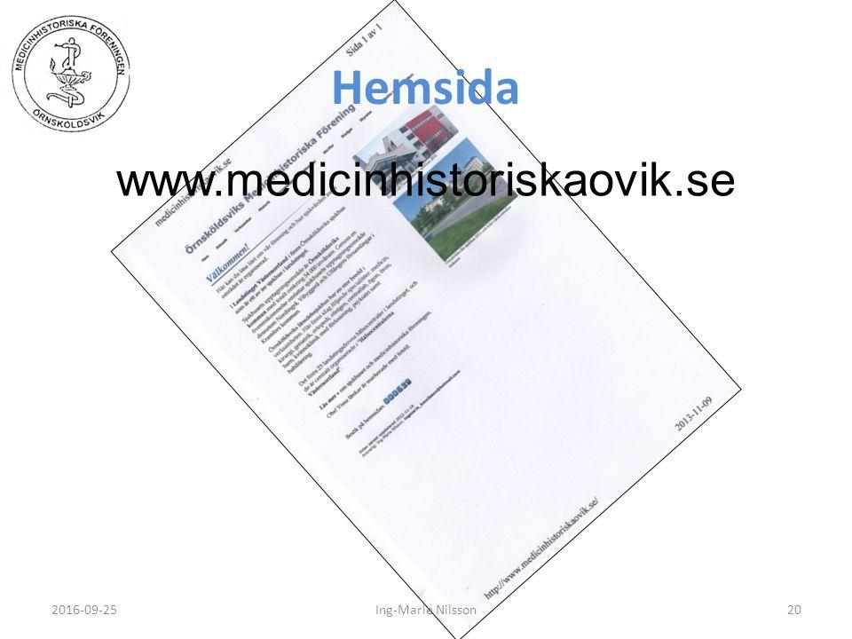 Hemsida 2016-09-2520Ing-Marie Nilsson www.medicinhistoriskaovik.se