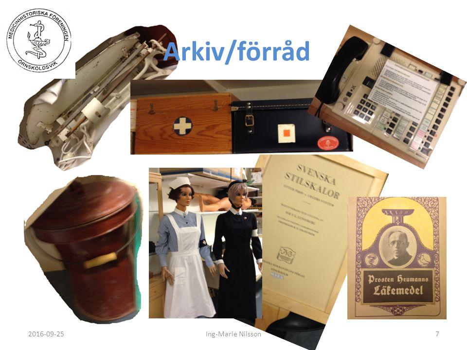 Arkiv/förråd 2016-09-257Ing-Marie Nilsson