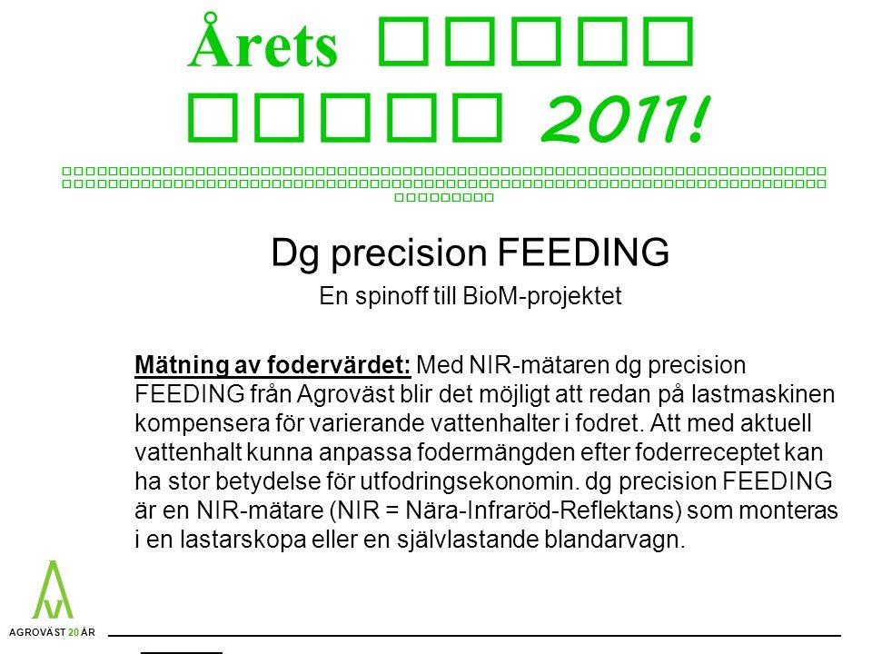 Årets Nyhet ELMIA 2011.