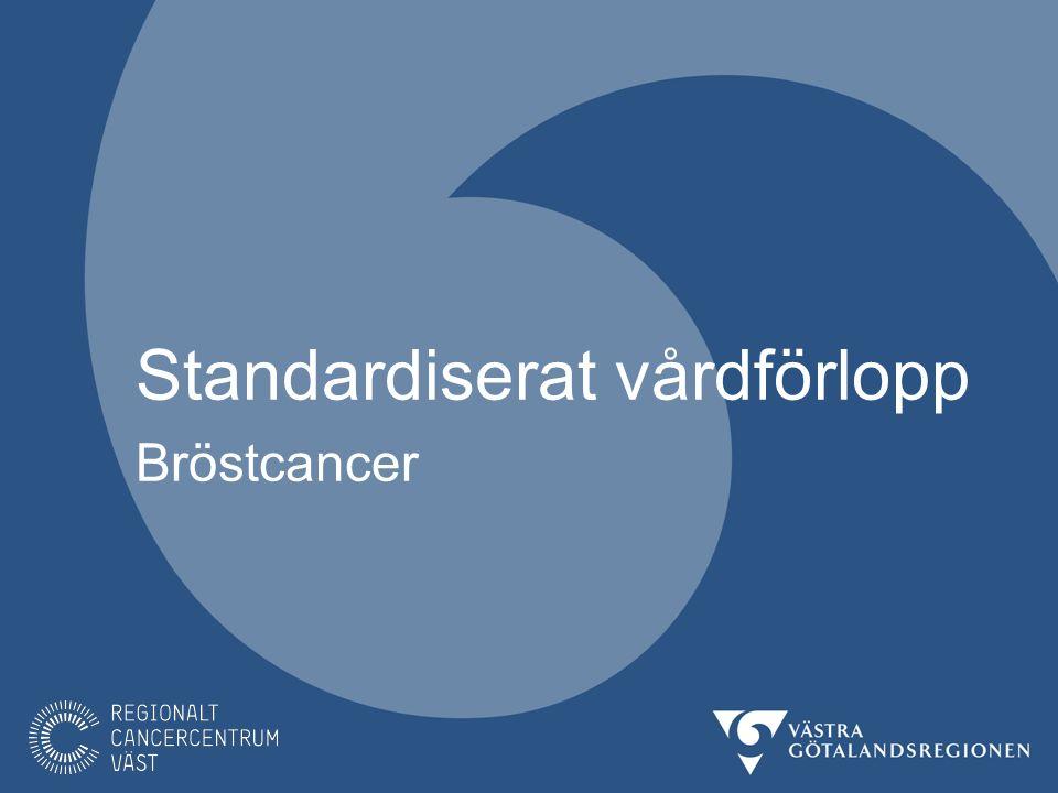 Bröstcancer I Sverige upptäcks drygt 9000 nya fall av bröstcancer årligen varav ca 1600 fall i VGR.