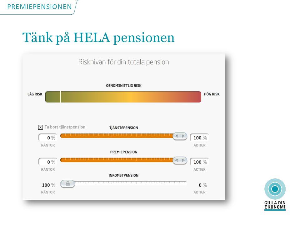 PREMIEPENSIONEN Tänk på HELA pensionen