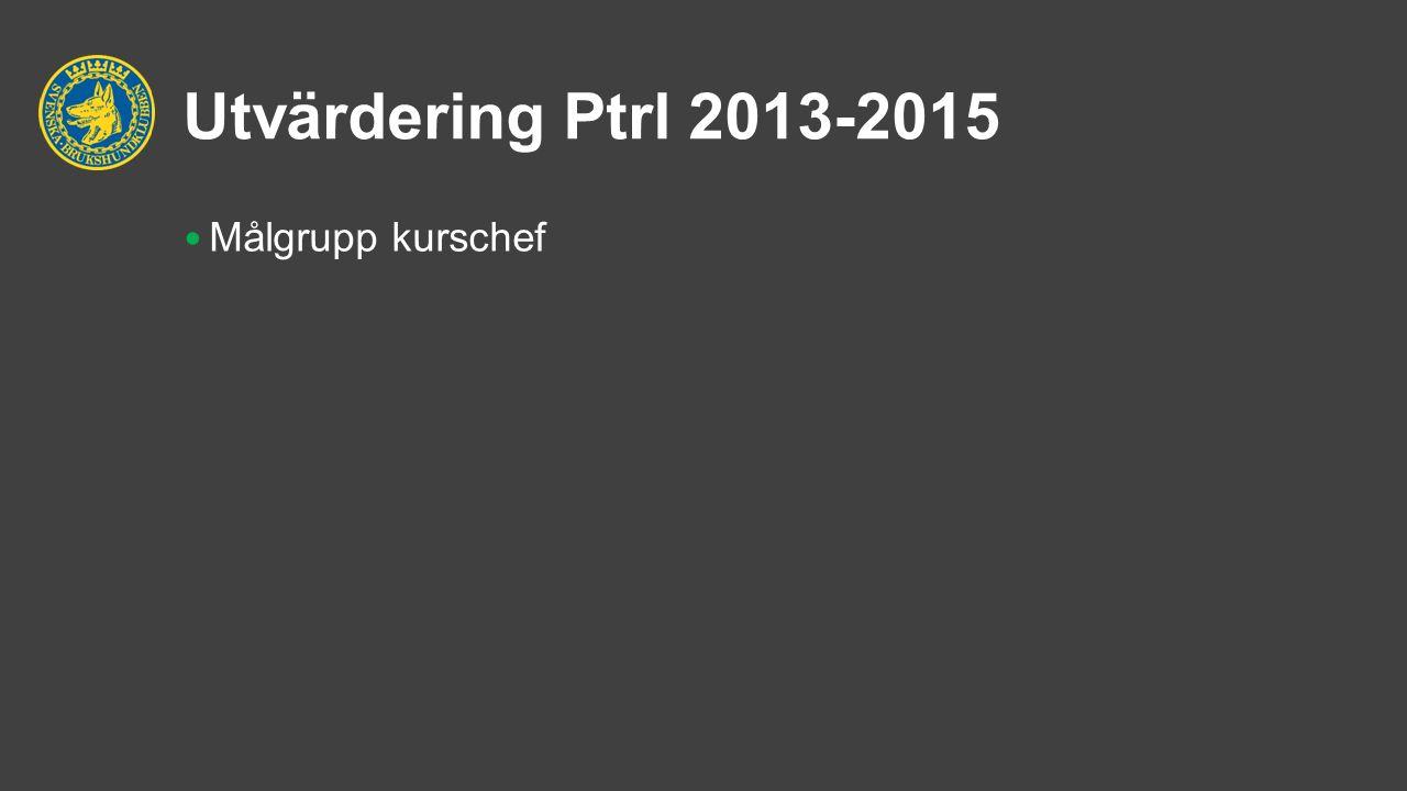 Utvärdering Ptrl 2013-2015 Målgrupp kurschef