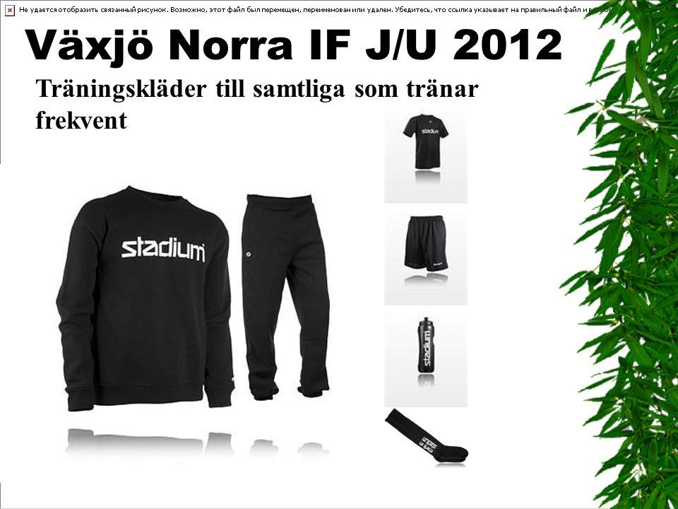 Växjö Norra IF J/U 2012 Träningskläder till samtliga som tränar frekvent