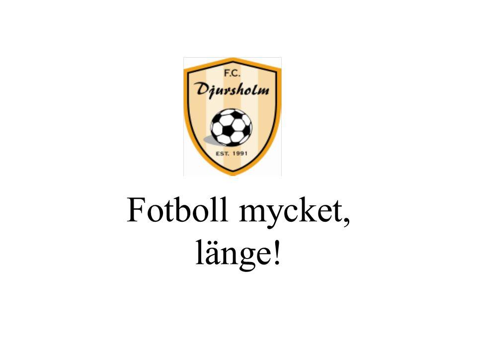 Fotboll mycket, länge!