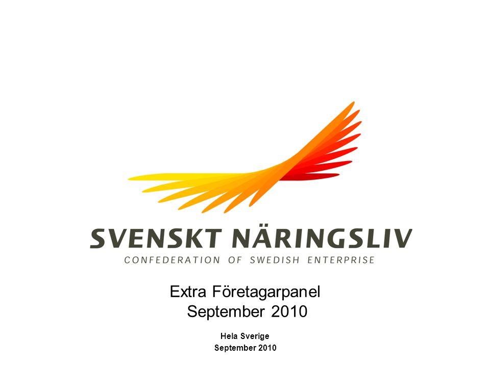 Extra Företagarpanel September 2010 Hela Sverige September 2010