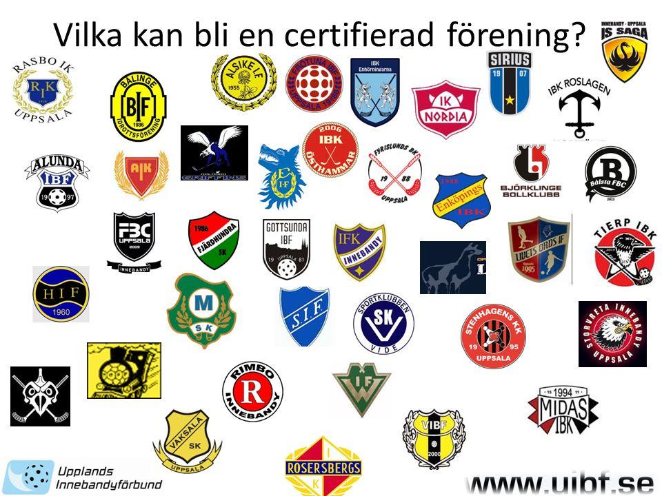 Vilka kan bli en certifierad förening?