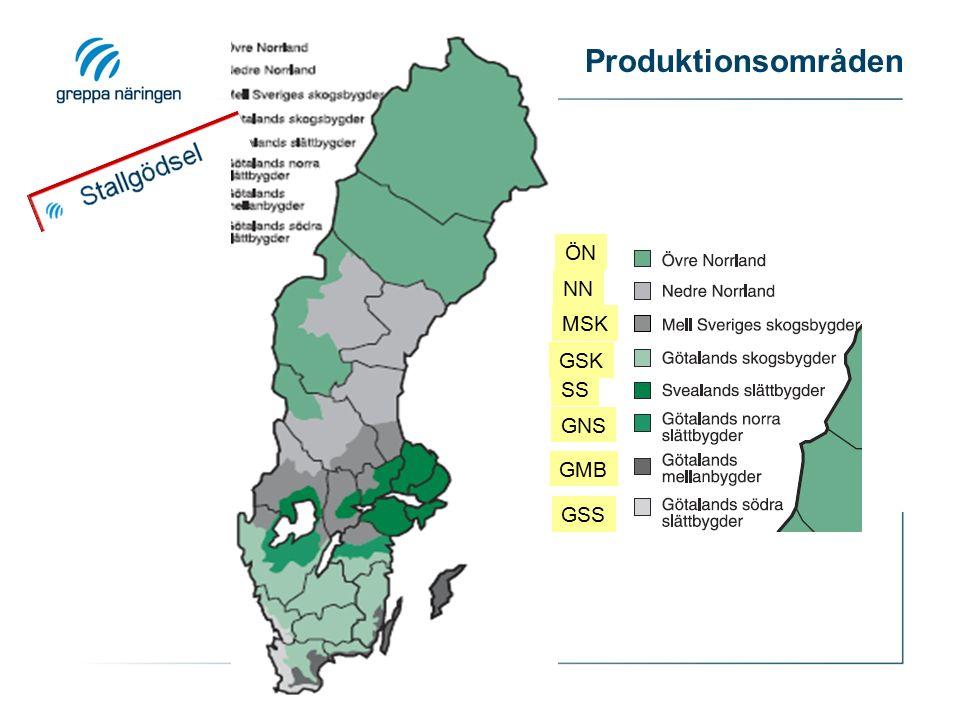 GNS GSK Produktionsområden GMB SS MSK GSS NN ÖN