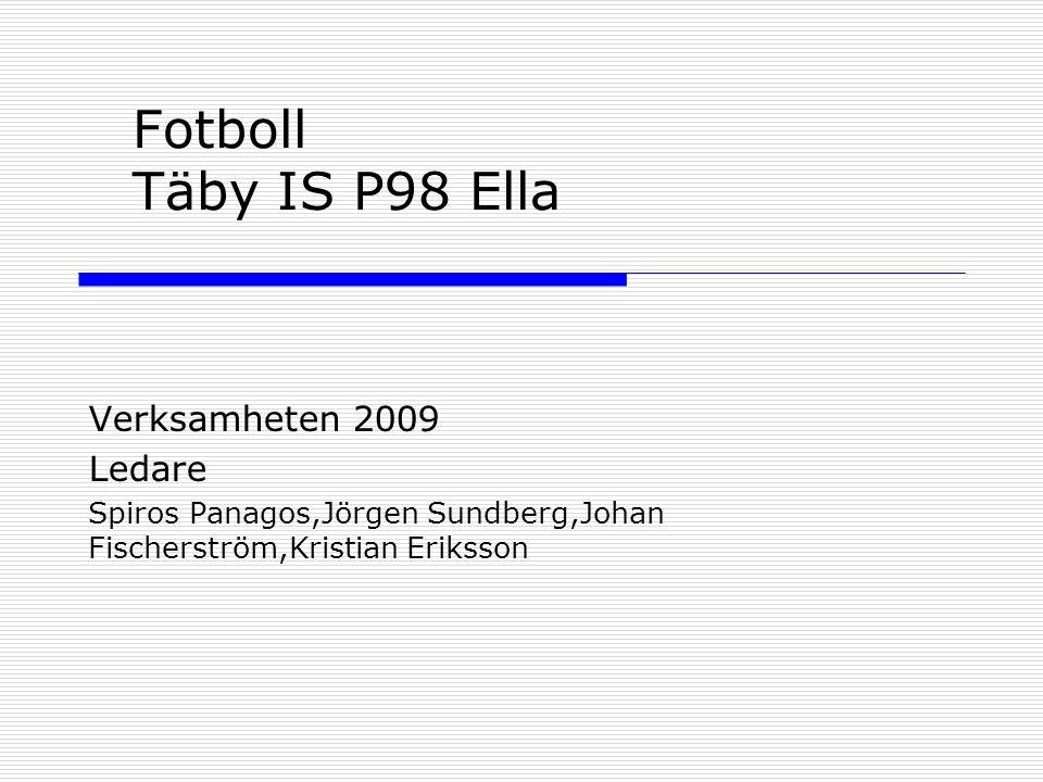 Fotboll Täby IS P98 Ella Verksamheten 2009 Ledare Spiros Panagos,Jörgen Sundberg,Johan Fischerström,Kristian Eriksson