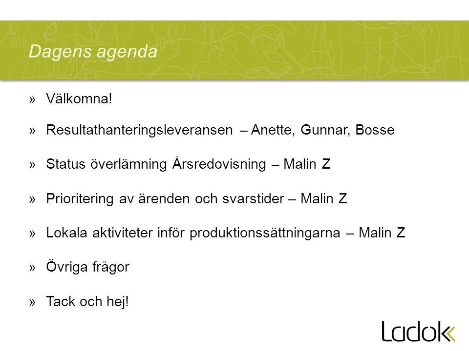 Dagens agenda »Välkomna.