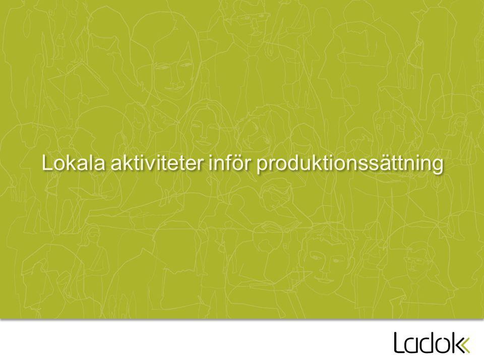 Lokala aktiviteter inför produktionssättning