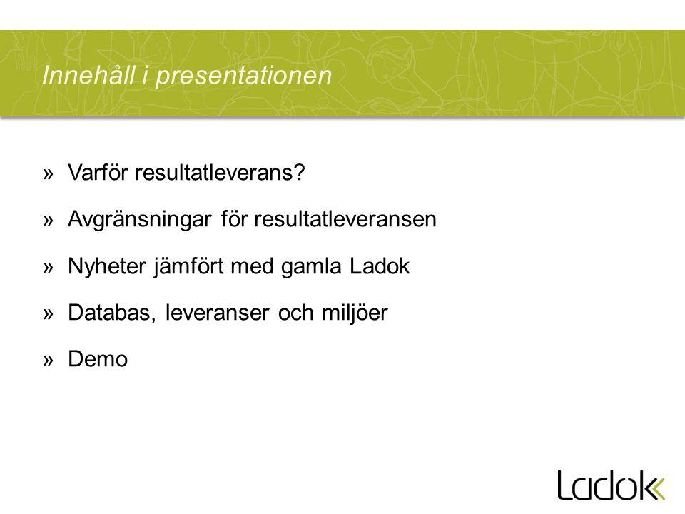 Innehåll i presentationen »Varför resultatleverans.