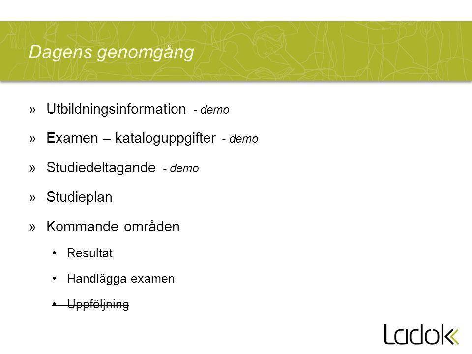 Ladok3 - målbilden »En gemensam installation »Tjänstegränssnitt »Användargränssnitt Anställda Studenter Utb.katalog Stud.delt.