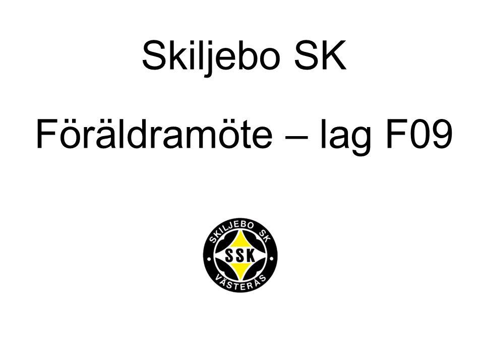 Agenda Att vara en del av Skiljebo SK – Skiljebo vill Bakgrund – året som gick Organisation – ledare och spelare Vad händer denna säsong?.