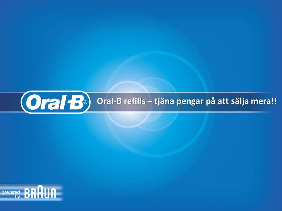 Oral-B refills – tjäna pengar på att sälja mera!!