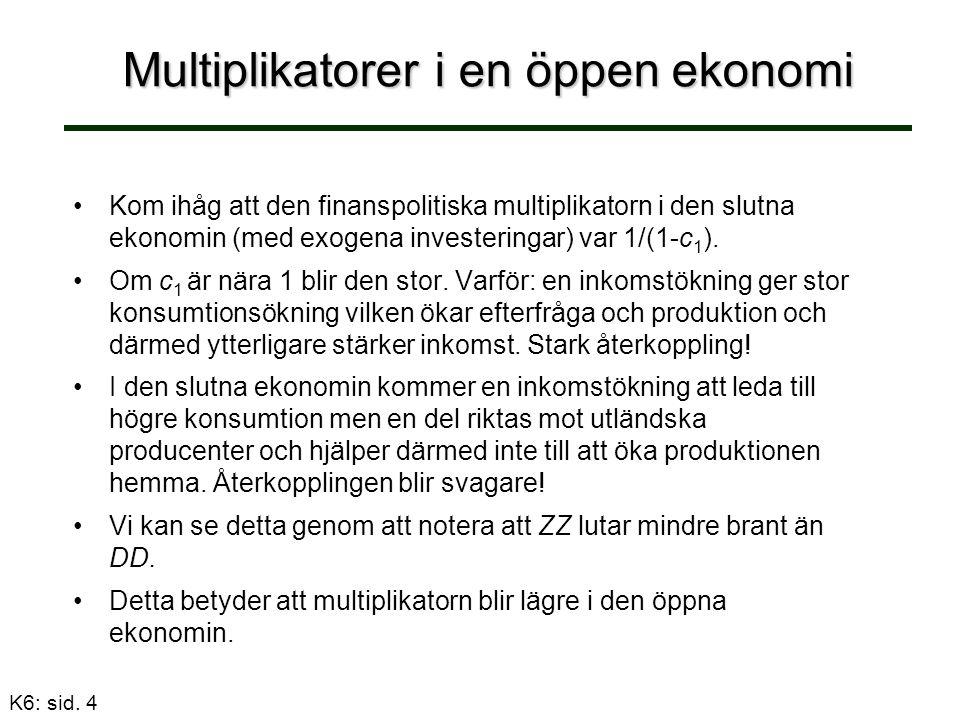 K6: sid. 5 Multiplikatorer och importandel