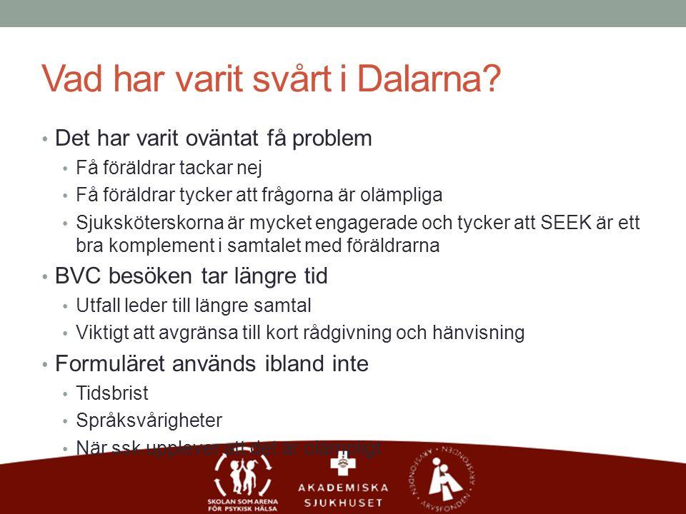 Vad har varit svårt i Dalarna.