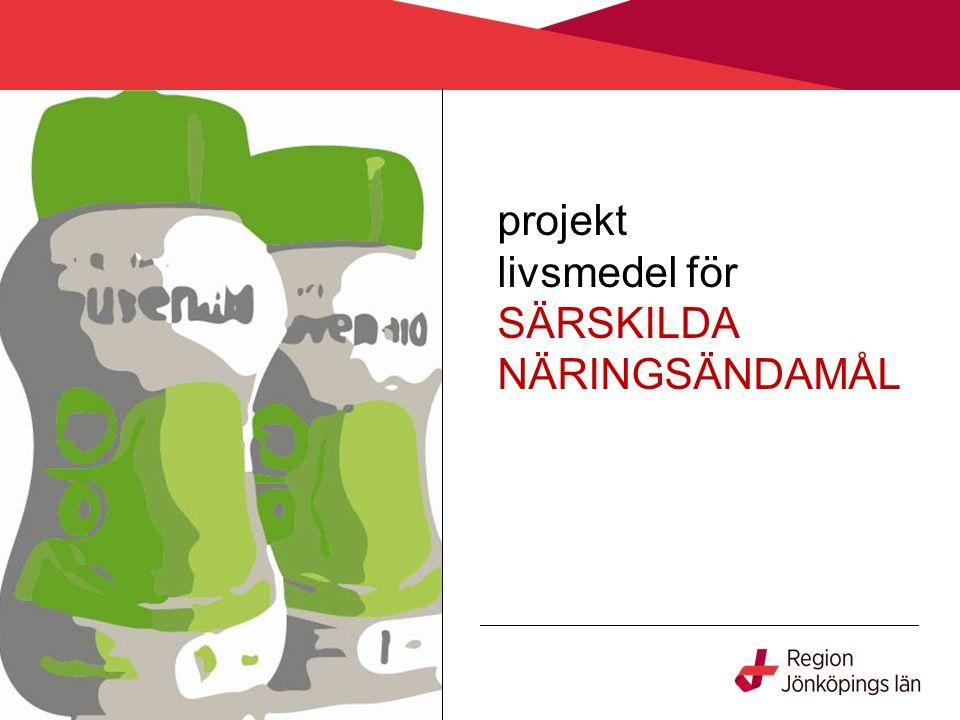 projekt livsmedel för SÄRSKILDA NÄRINGSÄNDAMÅL