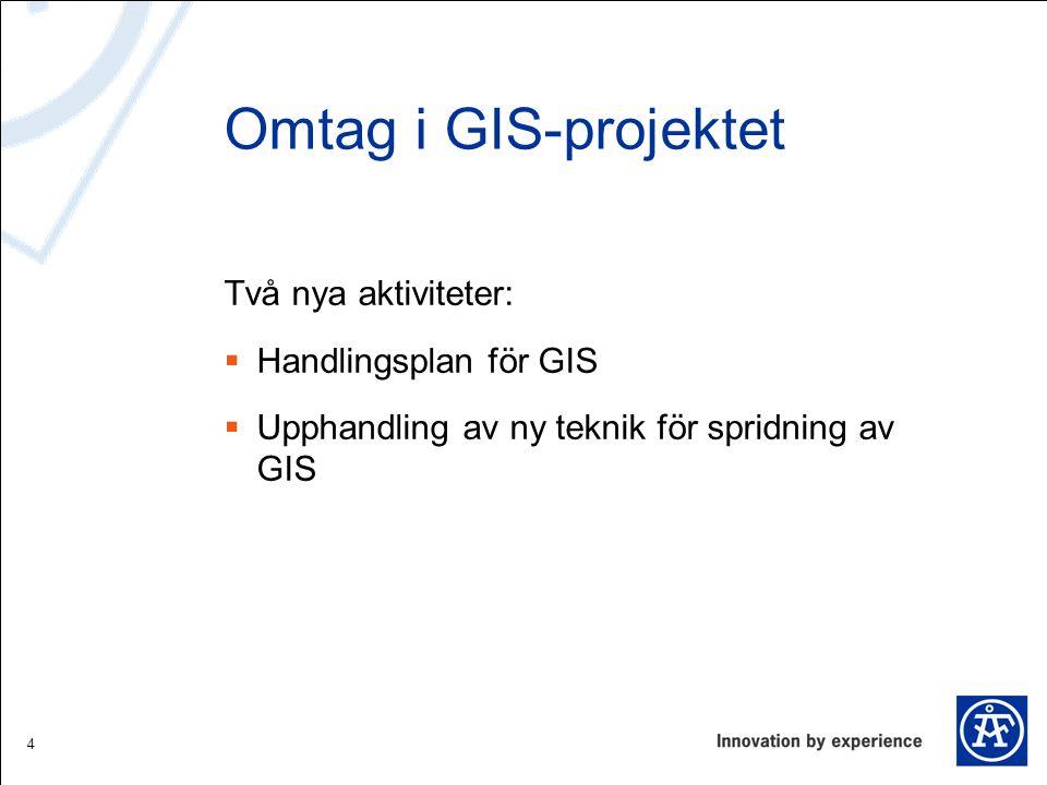 Verksamhetsmål för GIS- projektet  Tillgängliggöra och åskådliggöra information  Förenkla för handläggare och beslutsfattare  Effektivisera verksamheten  Minska sårbarhet 5
