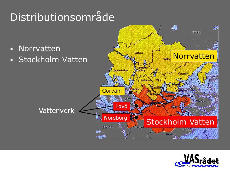 Norrvatten Stockholm Vatten Görväln Lovö Norsborg Vattenverk Distributionsområde  Norrvatten  Stockholm Vatten