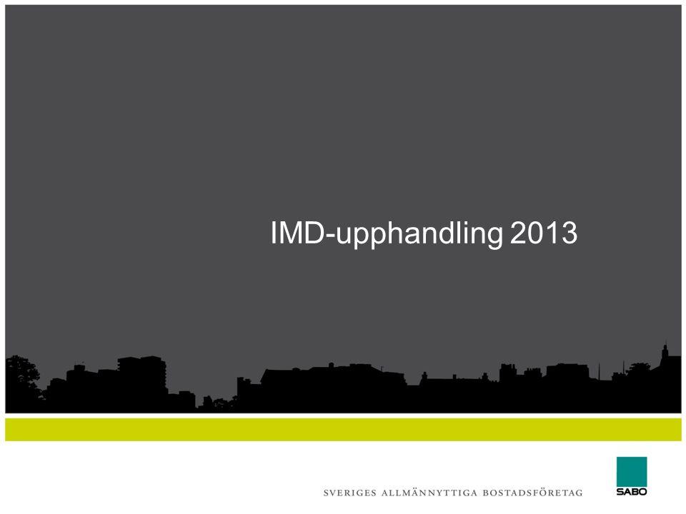 IMD-upphandling 2013