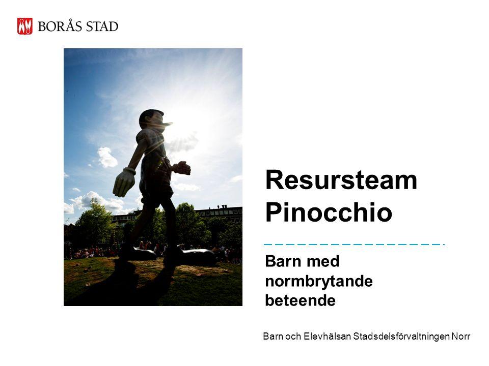 Resursteam Pinocchio Barn med normbrytande beteende Barn och Elevhälsan Stadsdelsförvaltningen Norr