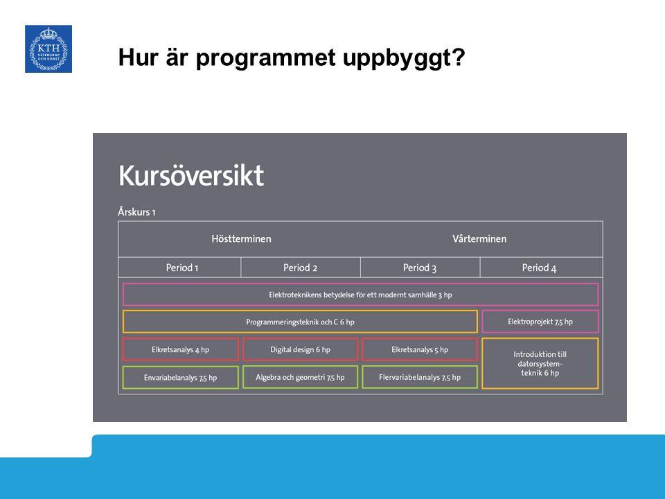 Hur är programmet uppbyggt?