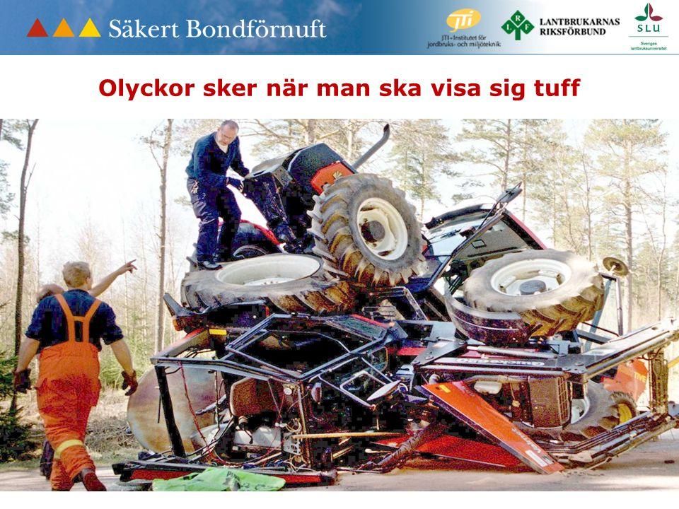 Maskiner Djur Byggnader Skog/ved De flesta olyckor sker när man jobbar med