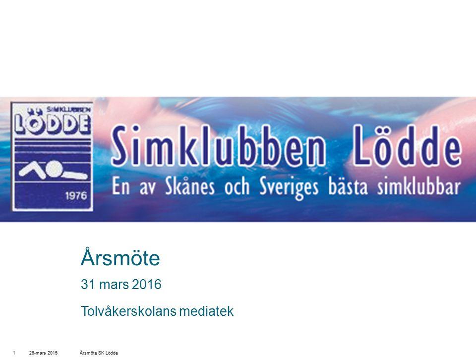 Årsmöte 31 mars 2016 Tolvåkerskolans mediatek 26-mars 2015Årsmöte SK Lödde1