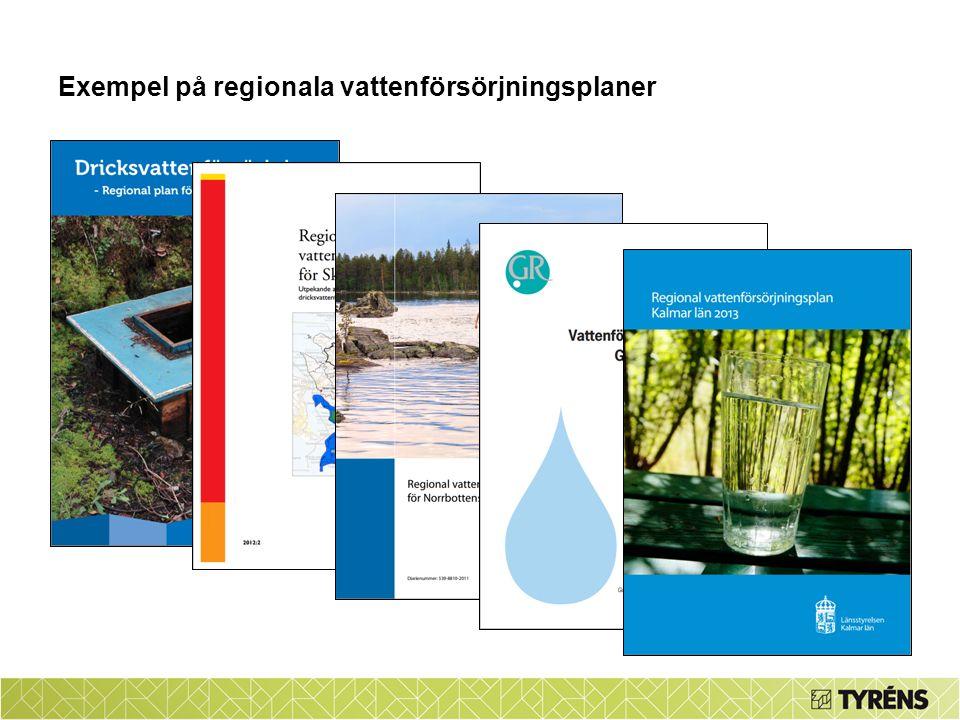 Exempel på regionala vattenförsörjningsplaner Beskriv vad en regional vattenförsörjningsplan är och ge exempel från andra regioner