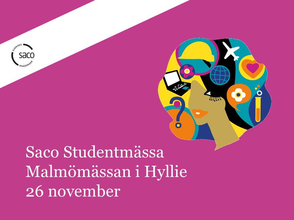 Saco Studentmässa Malmömässan i Hyllie 26 november