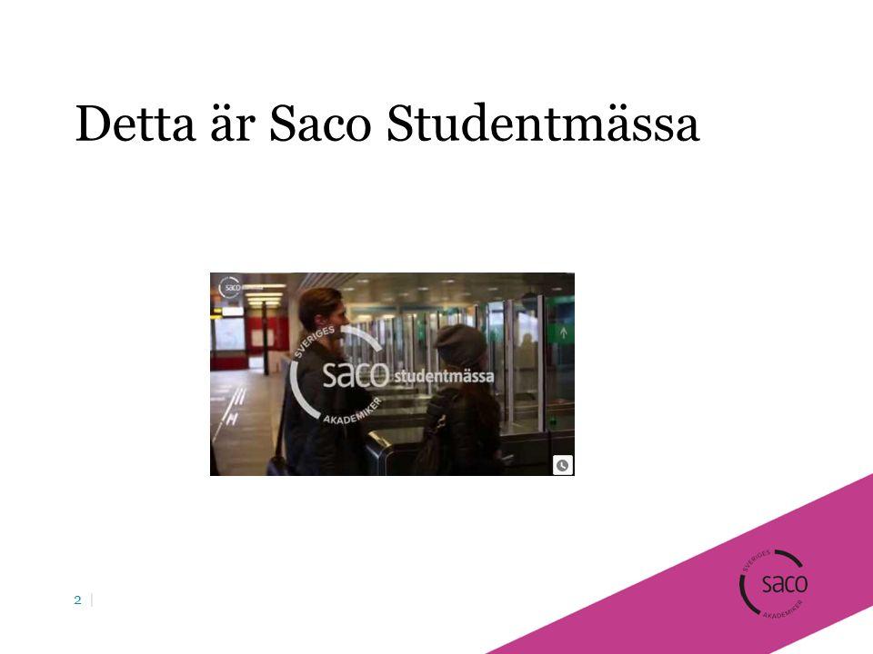 Detta är Saco Studentmässa 2 |