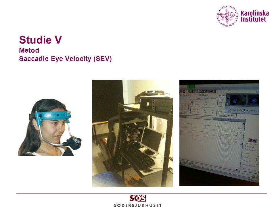 Studie V Metod Saccadic Eye Velocity (SEV)