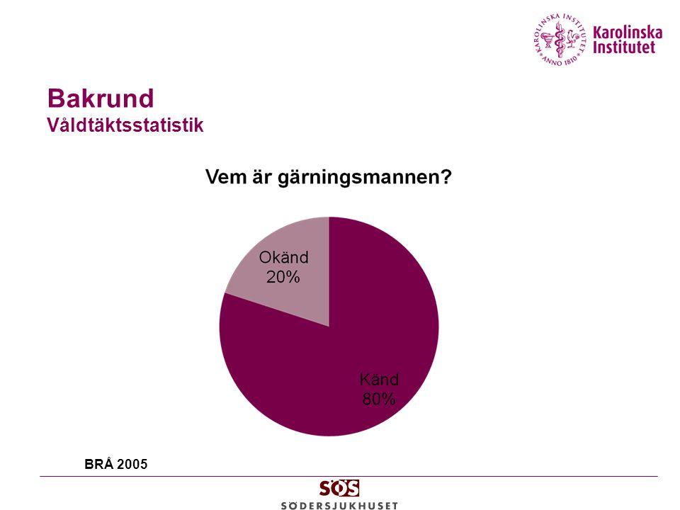 Bakrund Våldtäktsstatistik BRÅ 2005